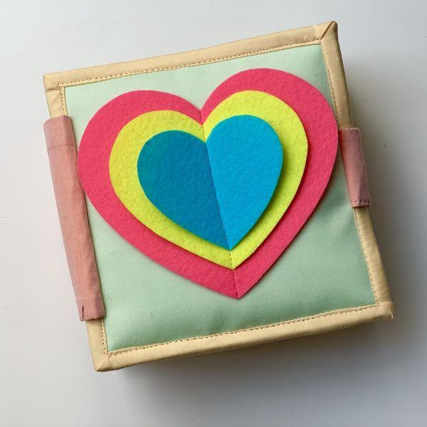 Quiet Book - Hearts - Mini