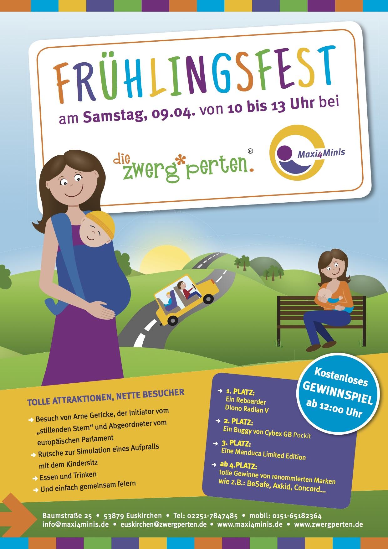 Frühlingsfest in Euskirchen am 9. April mit Verlosung